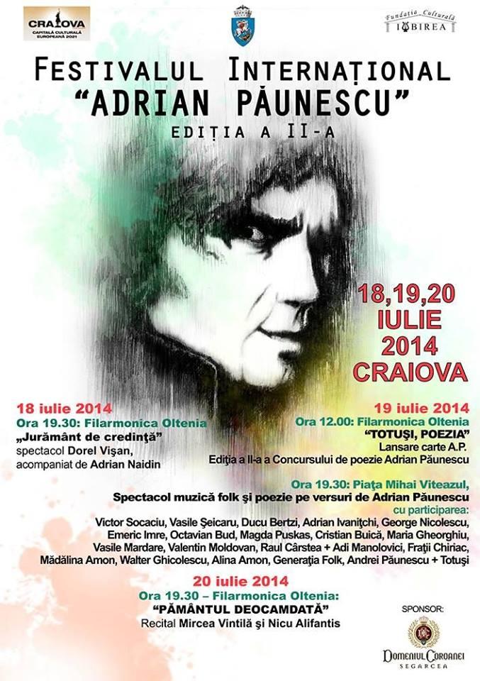 Agenda Adrian Paunescu 2014