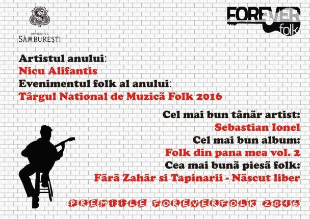 Premiile ForeverFolk 2016